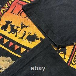 Vintage Disney The Lion King All Over Print Film T-shirt USA Made Men's XL