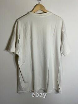 Vintage Le Roi Lion Hommes Hanes T-shirt Unique Point Blanc Rare Disney Taille XL