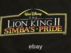 Vintage Le Roi Lion II Disney Promo Chemise Simba's Pride Large Double Sided