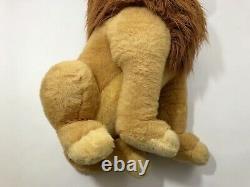 Vintage Le Roi Lion Mufasa Simba 30 Jumbo Énorme Lion Plush Disney Store
