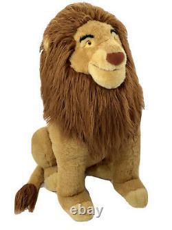 Vintage Le Roi Lion Mufasa Simba 30 Jumbo Huge Lion Peluche Disney Store