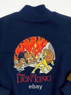 Vintage Lion King Veste 90s Walt Disney Simba Scar Rafiki Suede Laine R4