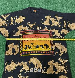 Vintage Roi Lion T-shirt Tout Surimpression Shirt Fits Film Promo Une Taille La Plupart