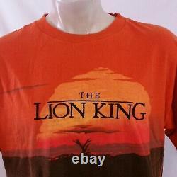 Vintage Walt Disney Lion King T Shirt Movie Promo Tv 90s All Over Print Tee XL