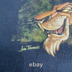 Vintage Walt Disney World Le Roi Lion Scar Hyenas Jim Tranoski Chemise Rare Vtg