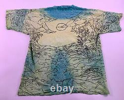 Vtg 90s The Lion King Movie T Shirt Simba Nala Disney Size Large XL Brodé