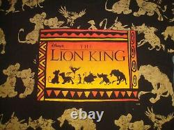 Vtg 90s The Lion King T Shirt Disney Jerry Leigh Toute Impression Promo Promo Osfa