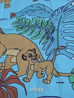 Vtg Années 90 Disney Lion King Simba Duvet Cover Fabric Sheets Literie Tropical Rare