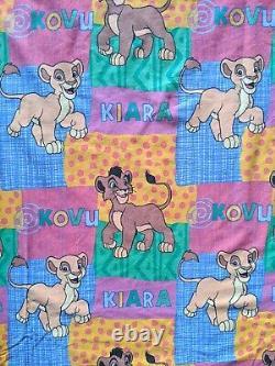 Vtg Disney Le Roi Lion Kovu Kiara Couette Feuilles De Couverture Simba Tissu Fée Kei Kawaii