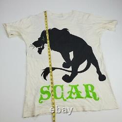Vtg Disney Lion King Scar T-shirt Tokyo Resort 90s 2 Sided XL Claw