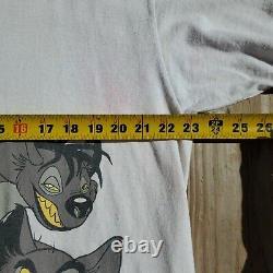 Vtg Disney The Lion King Scar T-shirt XL Status Stitch Front Dack Graphics Htf