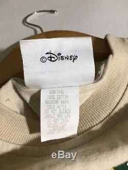 Vtg Tarzan Roi Lion De Walt Disney Pictures Promo Shirt 90s Simba All Over Imprimer