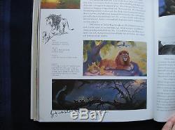Walt Disney Art Du Lion King Signé Par Artistes & Dessin Original