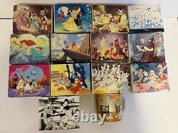 Walt Disney Classic Mugs Aladdin Dalmations Lion Roi Dame & Tramp Peter Pan