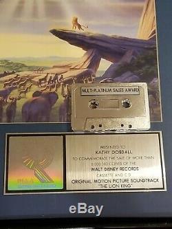 Walt Disney King Lion Riaa Vente Certified Prix 6000000 Platine Exemplaires