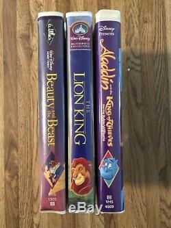 Walt Disney Rare Collection Vhs Le Roi Lion La Belle Et La Bête Aladdin