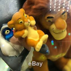 Walt Disney Snowglobe De Boule De L'eau Lion Boîte À Musique Roi Cercle Vie Simba