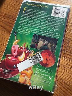 Walt Disney The Lion King 1995 Cassette Vidéo Vhs Collection Masterpiece Rare Unopen