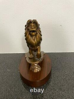 Walt Disney World Cast Membre Lion King Simba Bronze Statue 20 Ans Rare