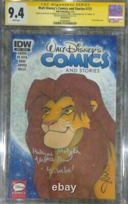 Walt Disney's Comics & Stories #721 Cgc 9.4 Ss Signé Matthew Broderick Simba
