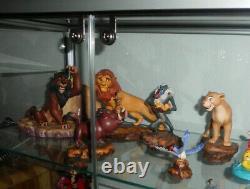 Wdcc 6x Roi Lion Figure Simba, Scar, Nala, Rafiki, Zazu, Timon & Pumba Disney
