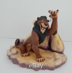 Wdcc De Not Fair Disney Le Roi Lion Film Scar Vie, IL Le Withcoa & Box 88