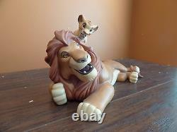 Wdcc Disney Lion King Mufasa & Simba Pals Forever Timon Luau Collection Figurine