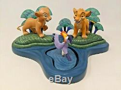 Wdcc Disney Simba Nala Zazu Voir ICI Lion King Abreuvoir Avec Box & Coa A003
