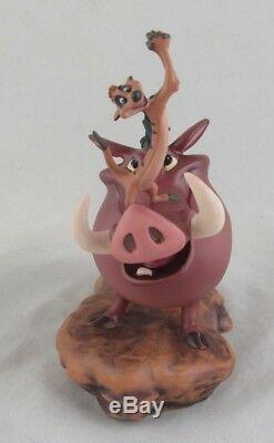 Wdcc Double Trouble Pumbaa Et Timon Du Roi Lion De Disney Dans L'encadré Coa
