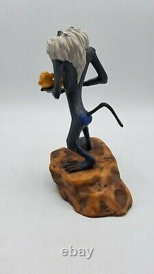 Wdcc Le Roi Lion Rafiki Avec Cub Le Cercle Continue Figurine Avec Box & Coa