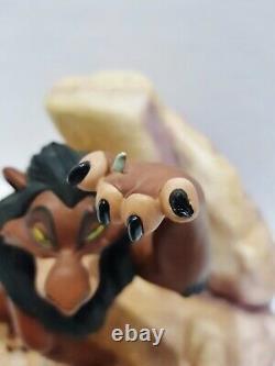 Wdcc Lion King Scar Life N'est Pas Juste, Est-ce + Boîte & Coa Disney Rare Figure
