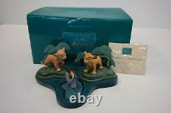 Wdcc The Lion King The Watering Hole Simba, Nala, & Zazu Figurine Set Mib Avec Coa