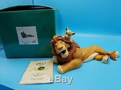Wdcc Walt Disney Roi Lion Copains Pour Toujours Mufasa Simba Truelle Nib Coa 1995 Lmtd