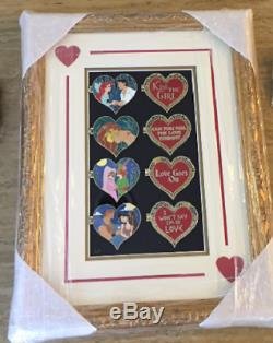 Wdi Disney Valentine Petite Sirène Roi Lion Robin Hood Hercules Encadrée Ensemble De Pin
