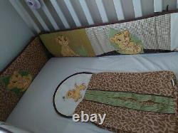 X 2 Rare Lion King Nursery Bumpers Pour Cot 1 Mobile & 1 Couche Stacker Rare